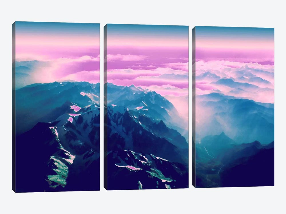 Candy Mountain by 5by5collective 3-piece Canvas Print