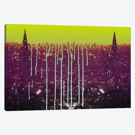 City Drips Canvas Print #ICA1132} by 5by5collective Art Print