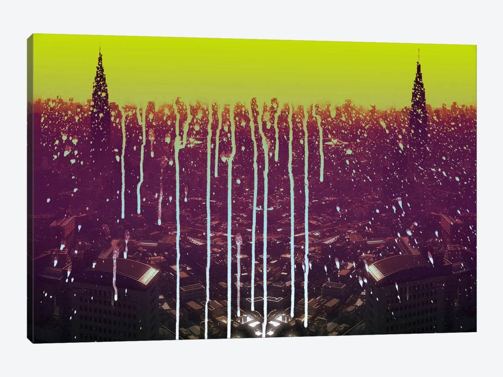 City Drips by 5by5collective 1-piece Canvas Print