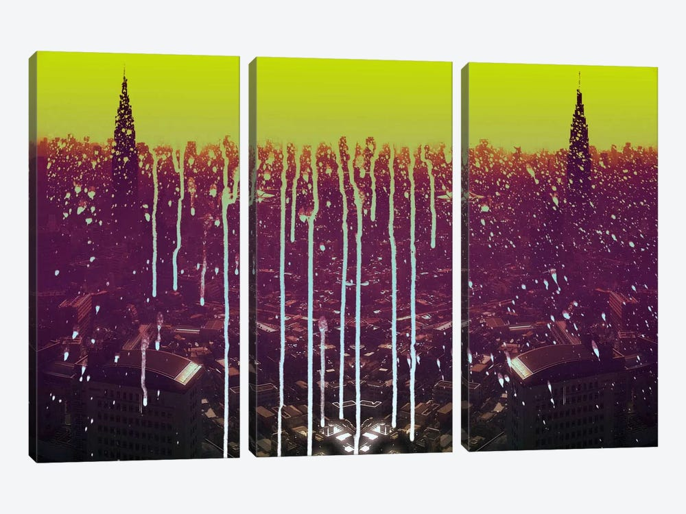 City Drips by 5by5collective 3-piece Canvas Art Print