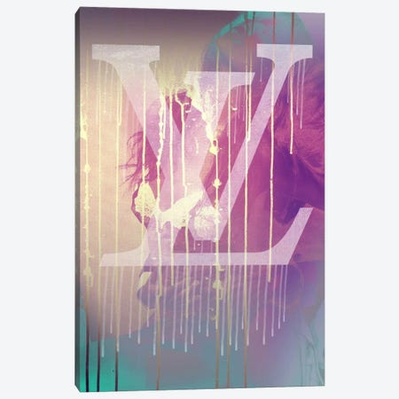 Embrace LV Canvas Print #ICA1135} by 5by5collective Canvas Artwork