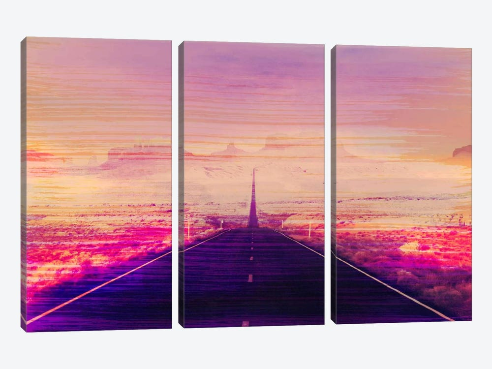 Radiation Road by 5by5collective 3-piece Canvas Print