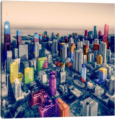 Chicago City Pop Canvas Art Print