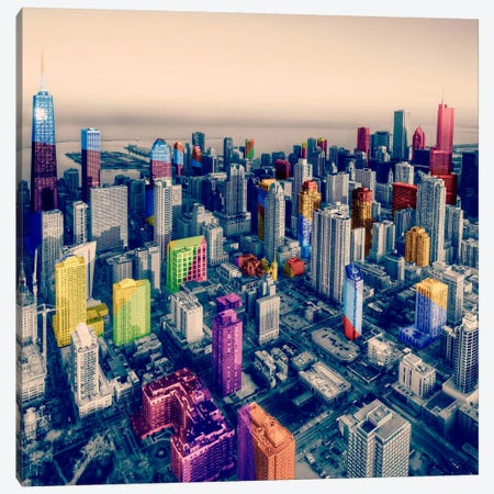 Chicago City Pop 3-Piece Canvas #ICA1140} by Unknown Artist Canvas Artwork