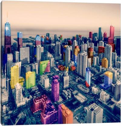 Chicago City Pop Canvas Art Print