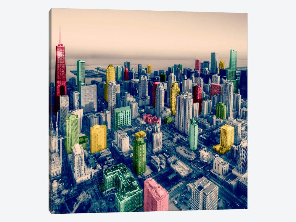 Chicago City Pop 2 by iCanvas 1-piece Art Print