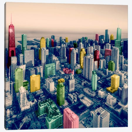 Chicago City Pop 2 3-Piece Canvas #ICA1141} by Unknown Artist Canvas Art