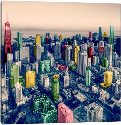 Chicago City Pop 2 Canvas Art Print