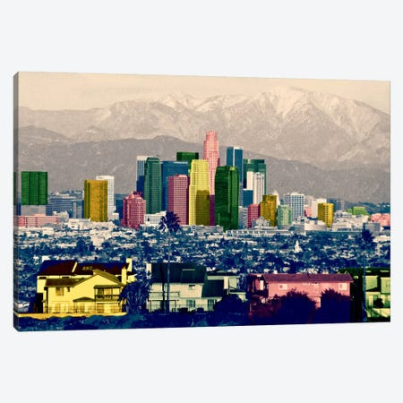 Los Angeles City Pop Canvas Print #ICA1142} by Unknown Artist Canvas Wall Art