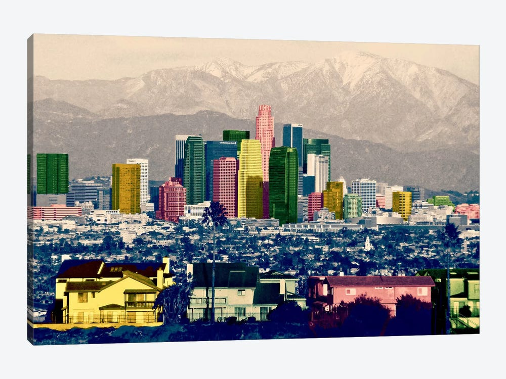 Los Angeles City Pop by iCanvas 1-piece Canvas Wall Art