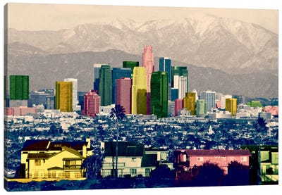 Los Angeles City Pop Canvas Art Print