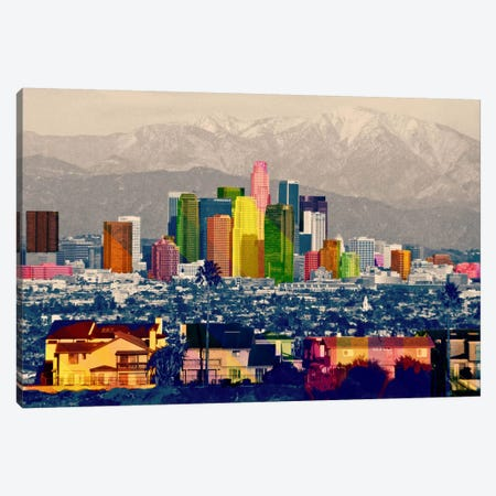 Los Angeles City Pop 2 Canvas Print #ICA1143} by Unknown Artist Canvas Wall Art