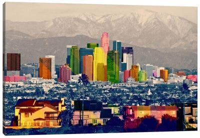 Los Angeles City Pop 2 Canvas Art Print
