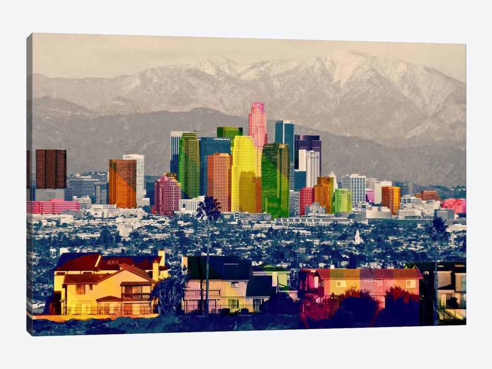 Los Angeles City Pop 2 by Unknown Artist 1-piece Canvas Print
