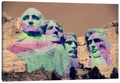 Mt. Rushmore Pop Canvas Art Print