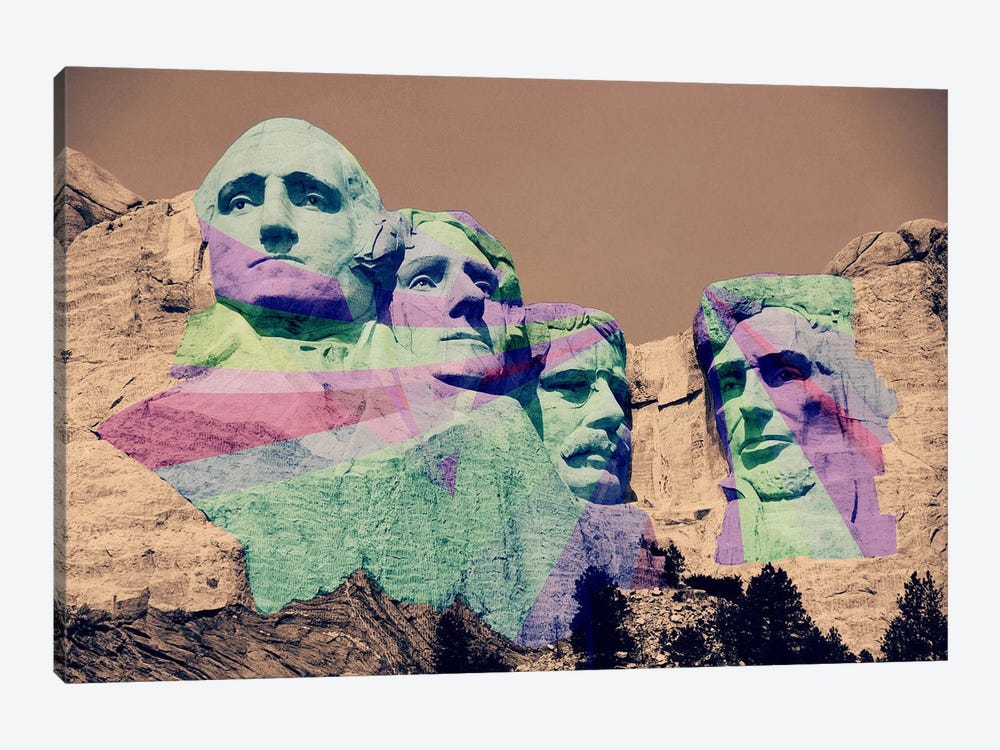 Mt. Rushmore Pop 1-piece Canvas Artwork