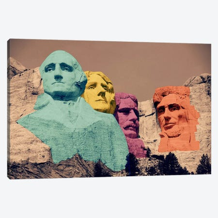 Mt. Rushmore Pop 2 Canvas Print #ICA1145} by Unknown Artist Canvas Art Print
