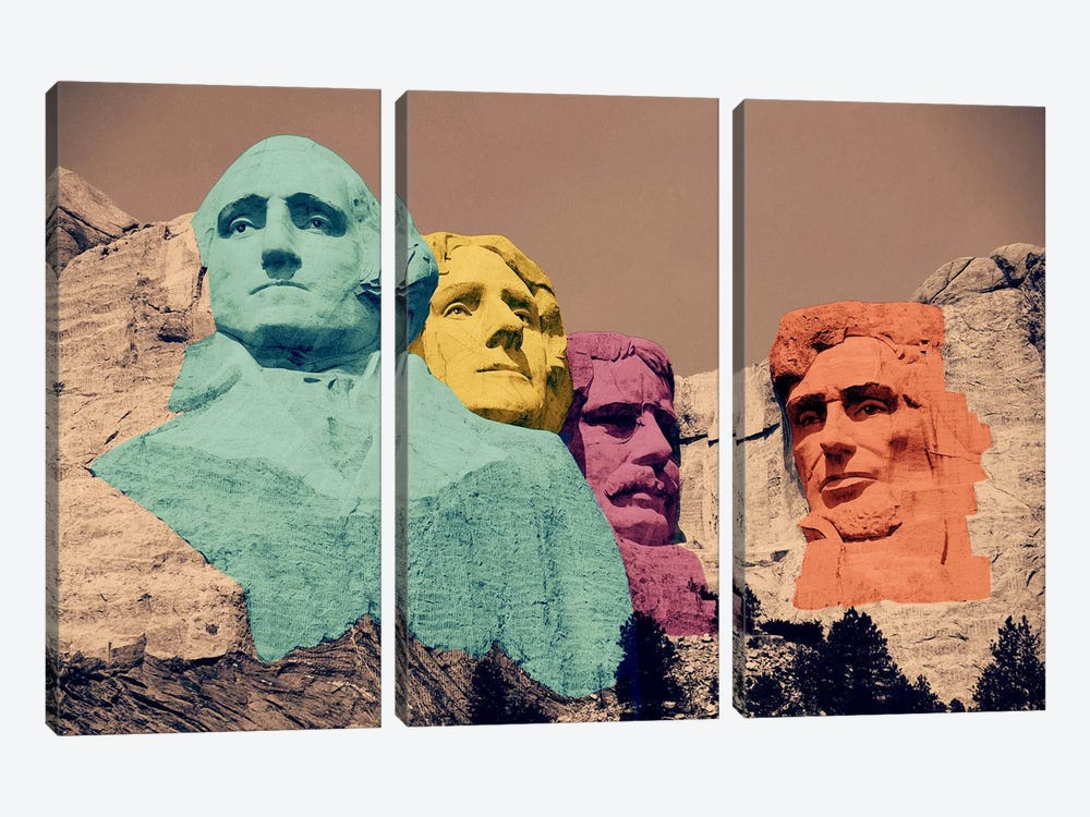 Mt. Rushmore Pop 2 by iCanvas 3-piece Art Print