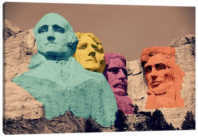 Mt. Rushmore Pop 2 Canvas Art Print