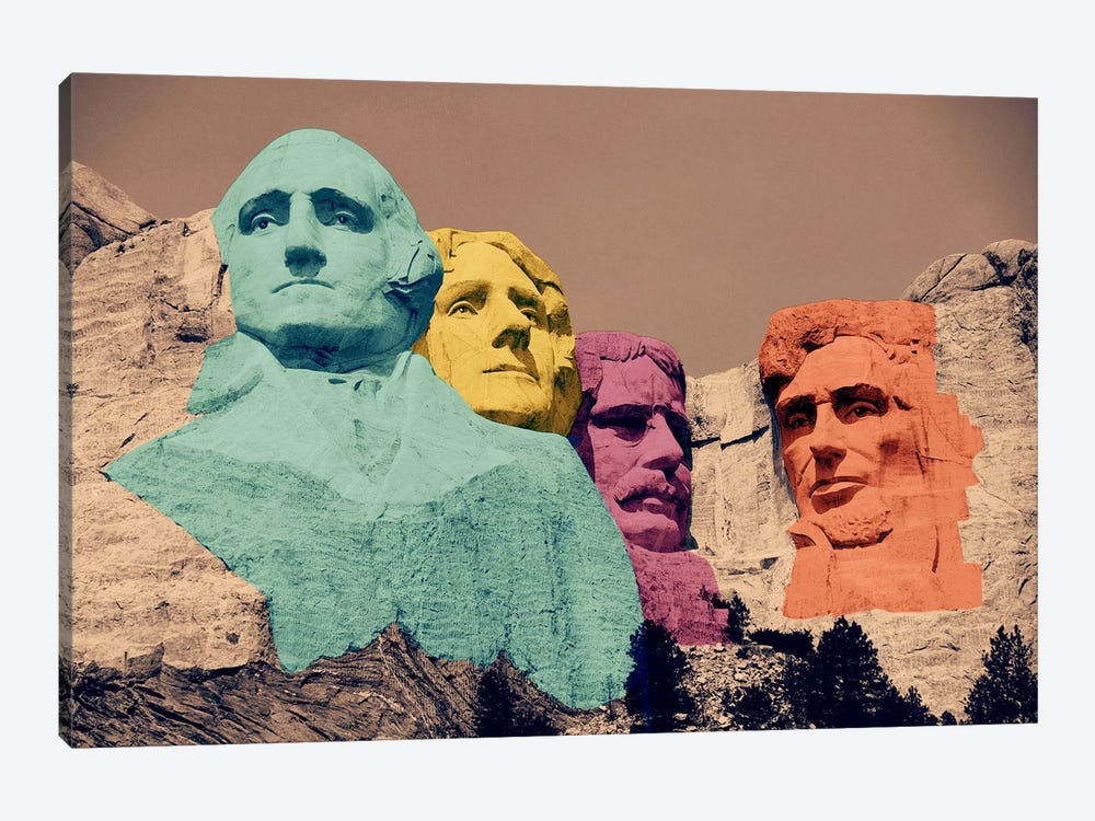Mt. Rushmore Pop 2 by Unknown Artist 1-piece Canvas Print