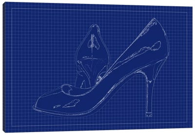 Pump Blueprint Canvas Art Print