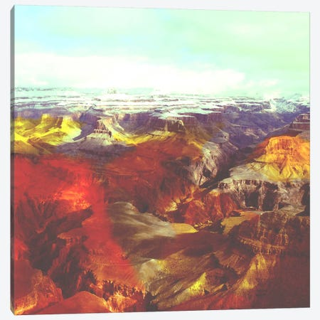 Colorized Canyon Canvas Print #ICA1151} by Unknown Artist Canvas Art Print