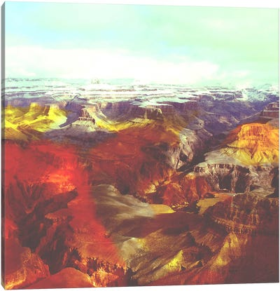Colorized Canyon Canvas Art Print