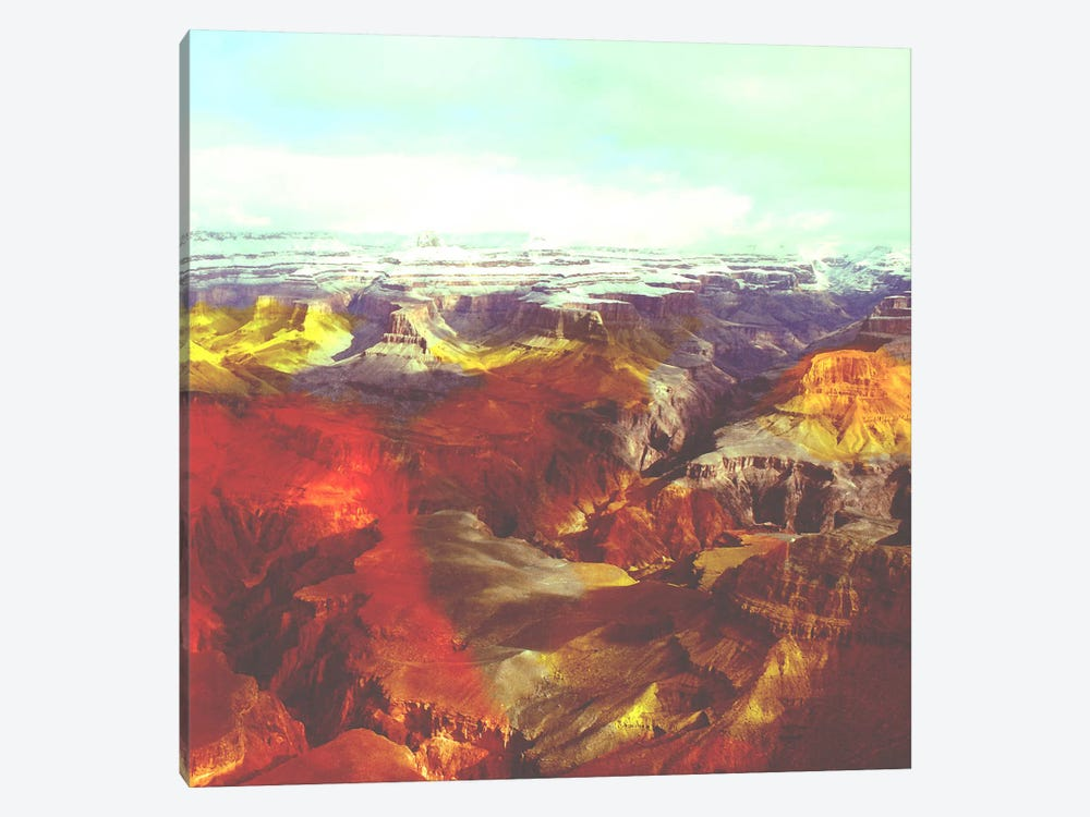 Colorized Canyon by Unknown Artist 1-piece Canvas Artwork