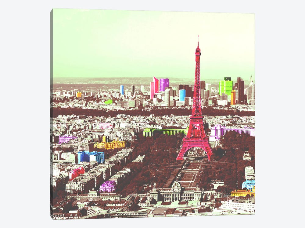 Paris in Color by iCanvas 1-piece Canvas Art Print
