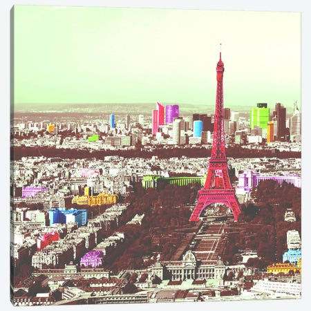 Paris in Color Canvas Print #ICA1152} by Unknown Artist Art Print