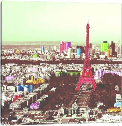 Paris in Color Canvas Art Print