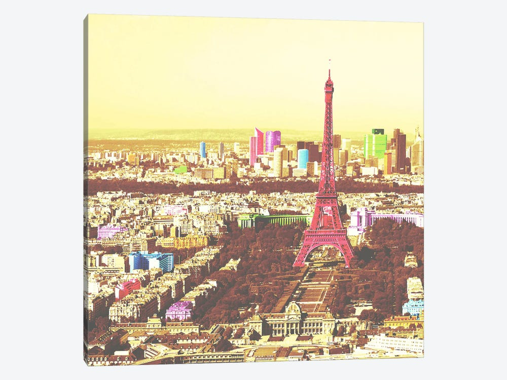 Paris in Color 2 1-piece Canvas Wall Art