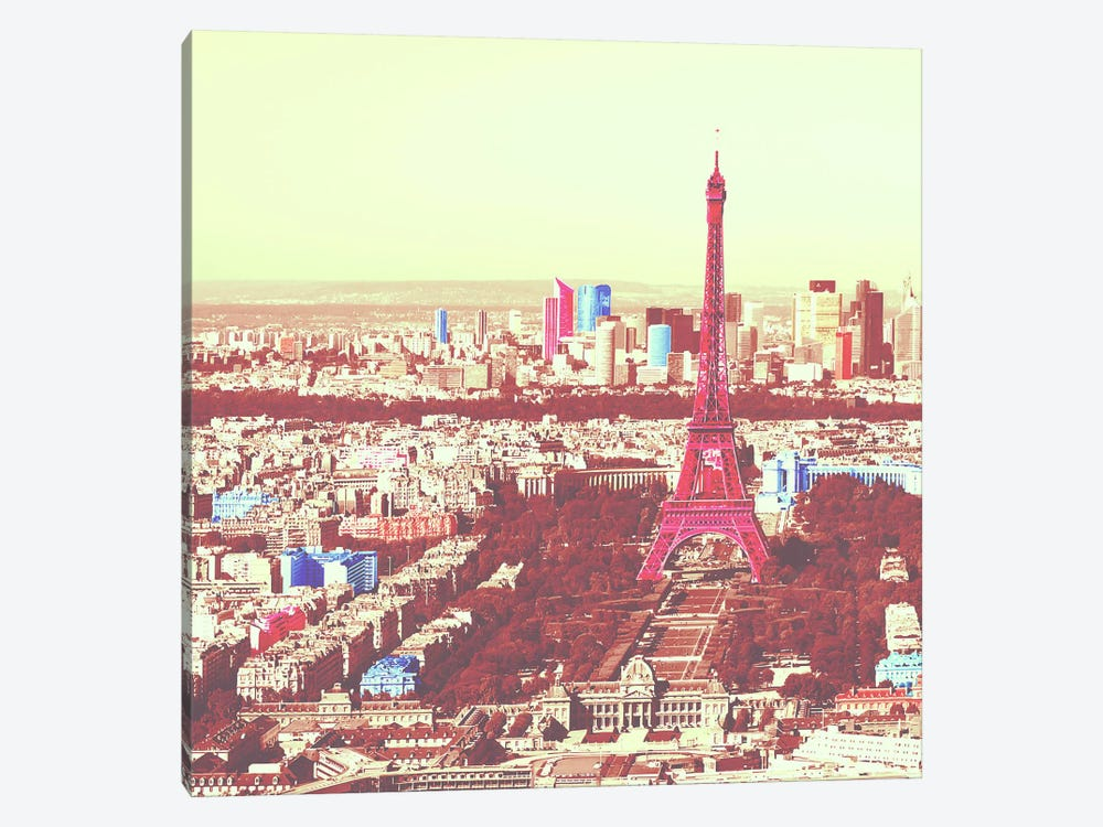 Paris in Color 3 1-piece Canvas Art Print