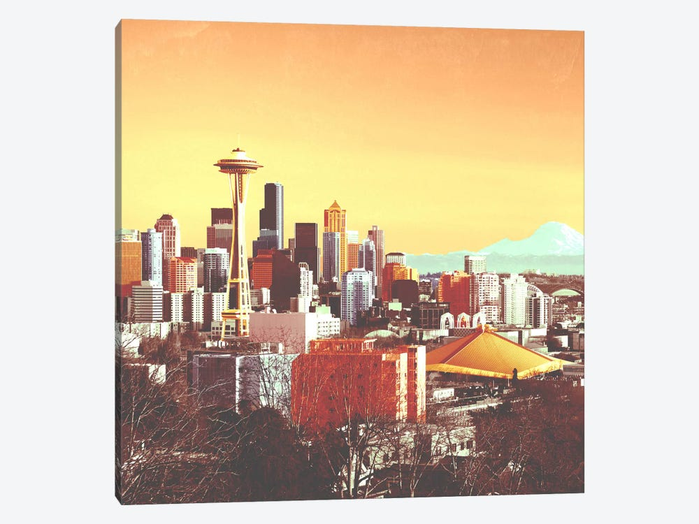Seattle in Color by iCanvas 1-piece Canvas Art