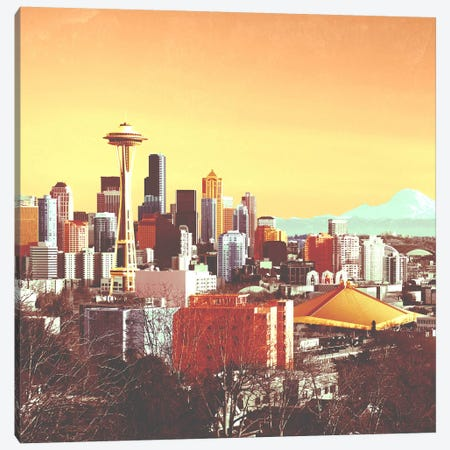 Seattle in Color Canvas Print #ICA1155} by Unknown Artist Canvas Art