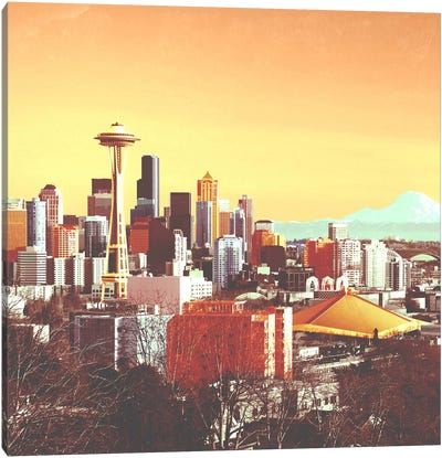 Seattle in Color Canvas Art Print