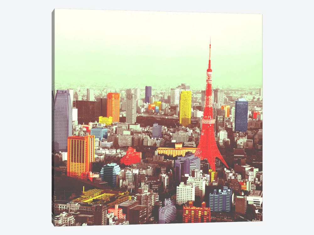 Tokyo in Color by iCanvas 1-piece Canvas Wall Art