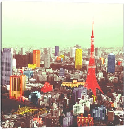 Tokyo in Color Canvas Art Print
