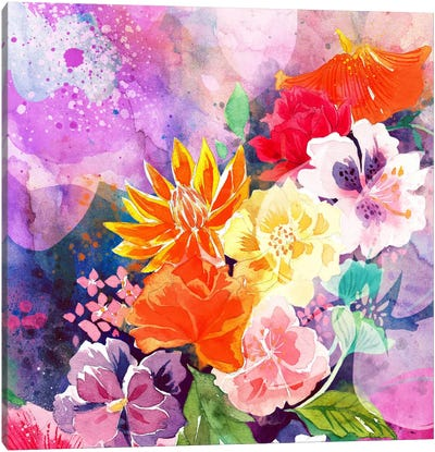 Summer Blossoms Canvas Art Print