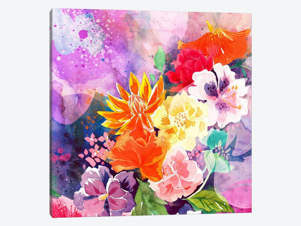 Summer Blossoms by 5by5collective 1-piece Canvas Wall Art