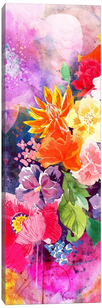 Summer Blossoms Panoramic Canvas Art Print