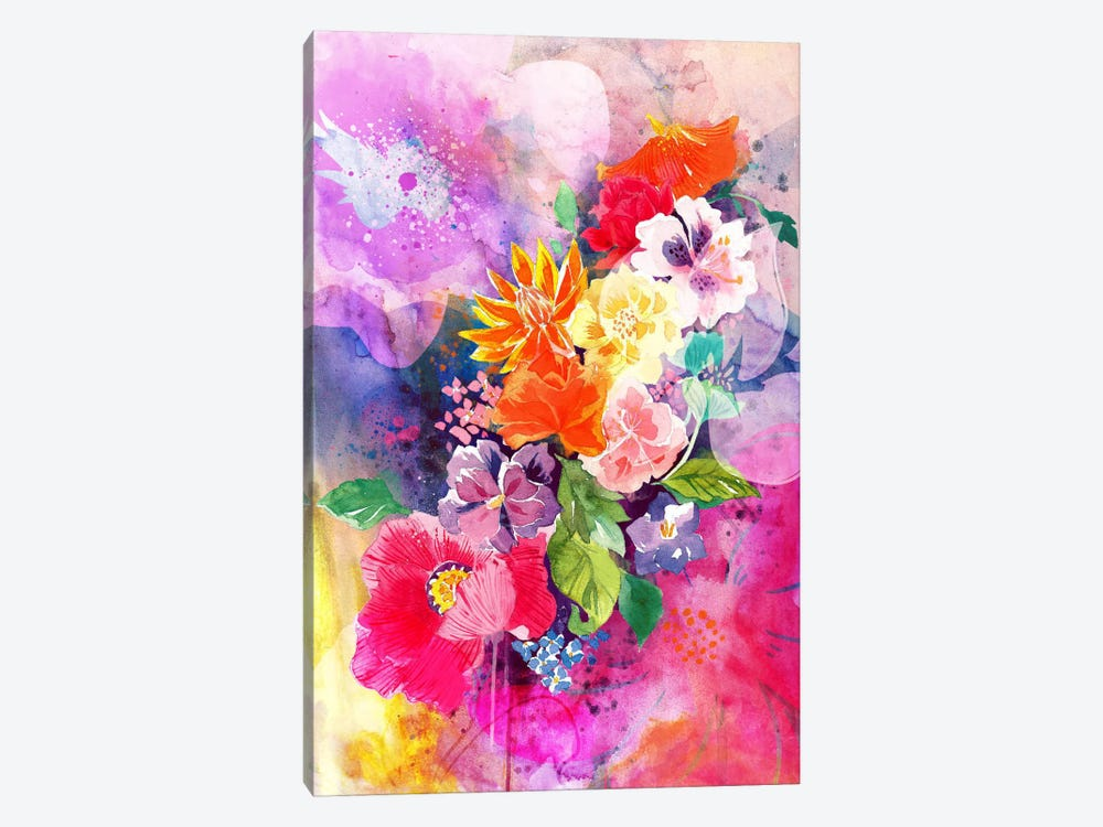 Spring Flowers by 5by5collective 1-piece Canvas Wall Art