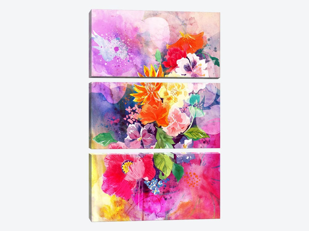 Spring Flowers by 5by5collective 3-piece Canvas Art