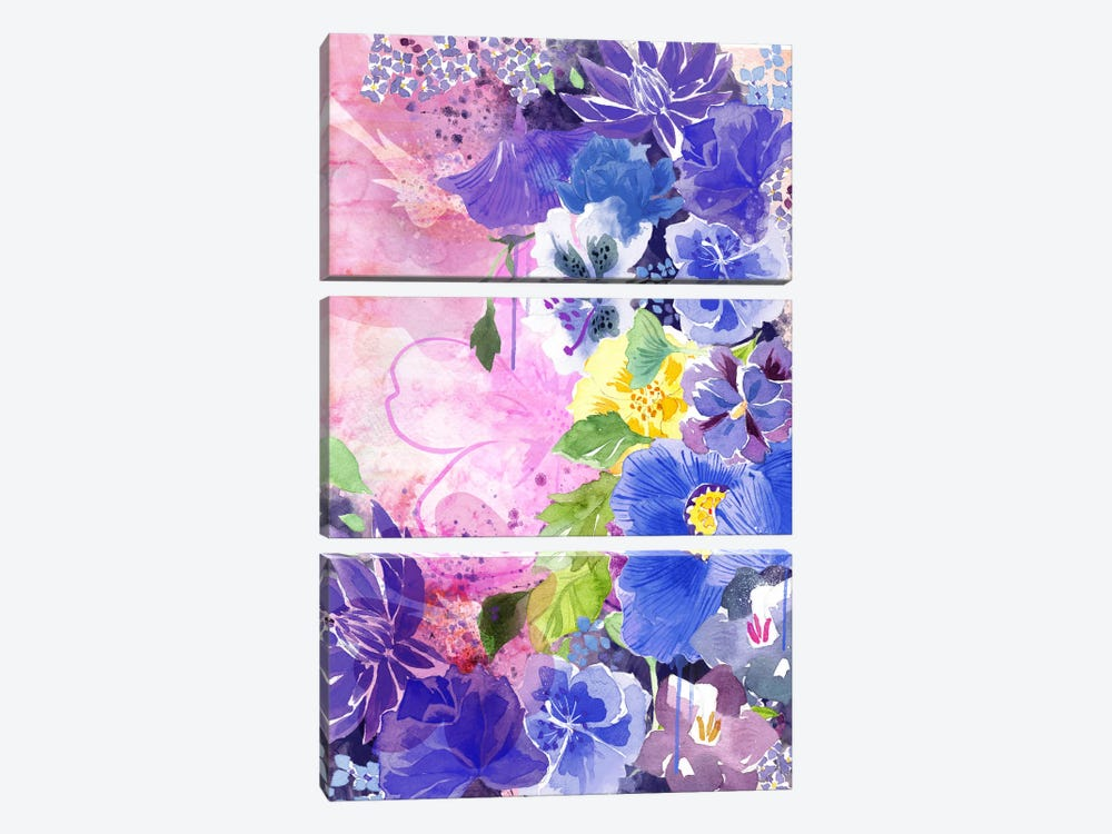 Blossoms by 5by5collective 3-piece Canvas Print