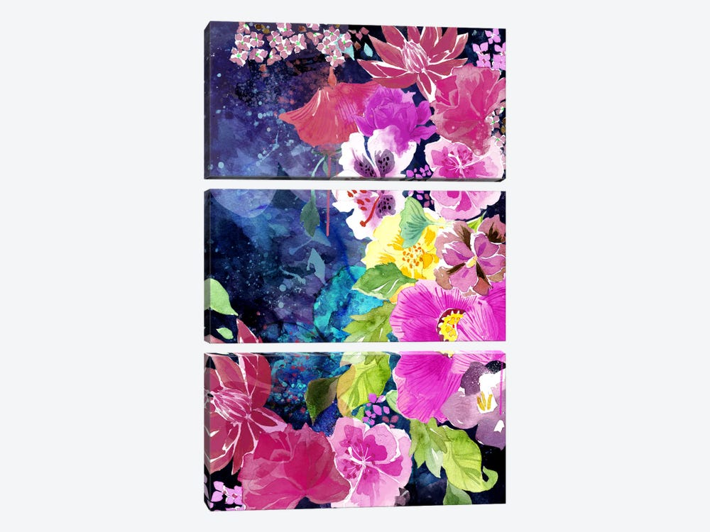 Everlasting Flowers 3-piece Canvas Wall Art