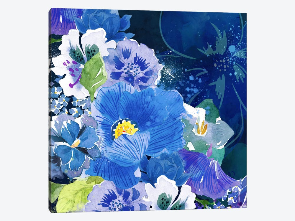 Midnight Flowers #2 by 5by5collective 1-piece Canvas Print