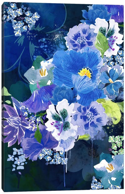 Midnight Flowers Canvas Art Print