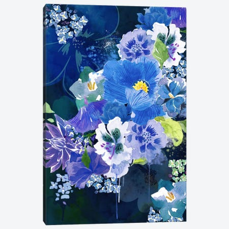 Midnight Flowers Canvas Print #ICA1171} by 5by5collective Canvas Art Print