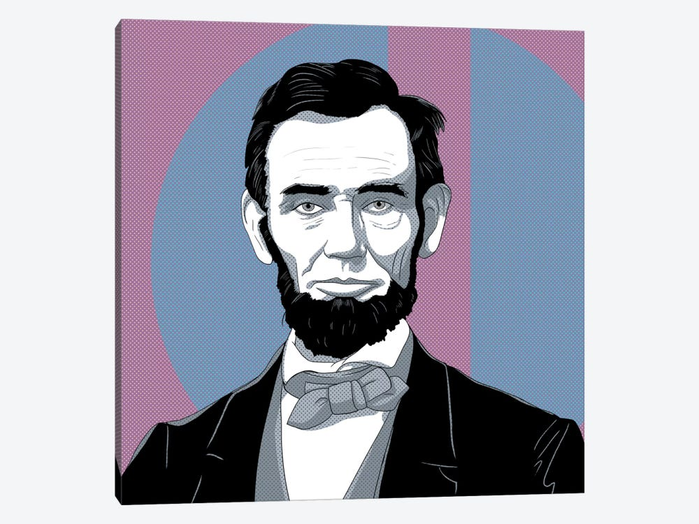 Honest Abe #2 by 5by5collective 1-piece Canvas Wall Art