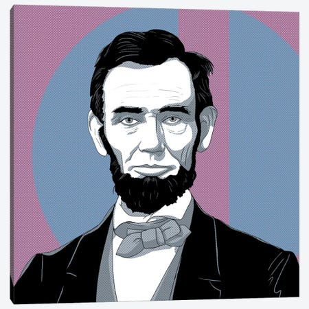 Honest Abe #2 Canvas Print #ICA1177} by 5by5collective Canvas Artwork